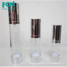 Cosmetic airless pump bottle 20ml 30ml for cream customized PETG