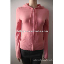 100%cashmere cardigans with zipper, hooded sweater