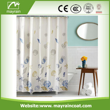 Custom Elegance PEVA Materialed Plastic Shower Curtain
