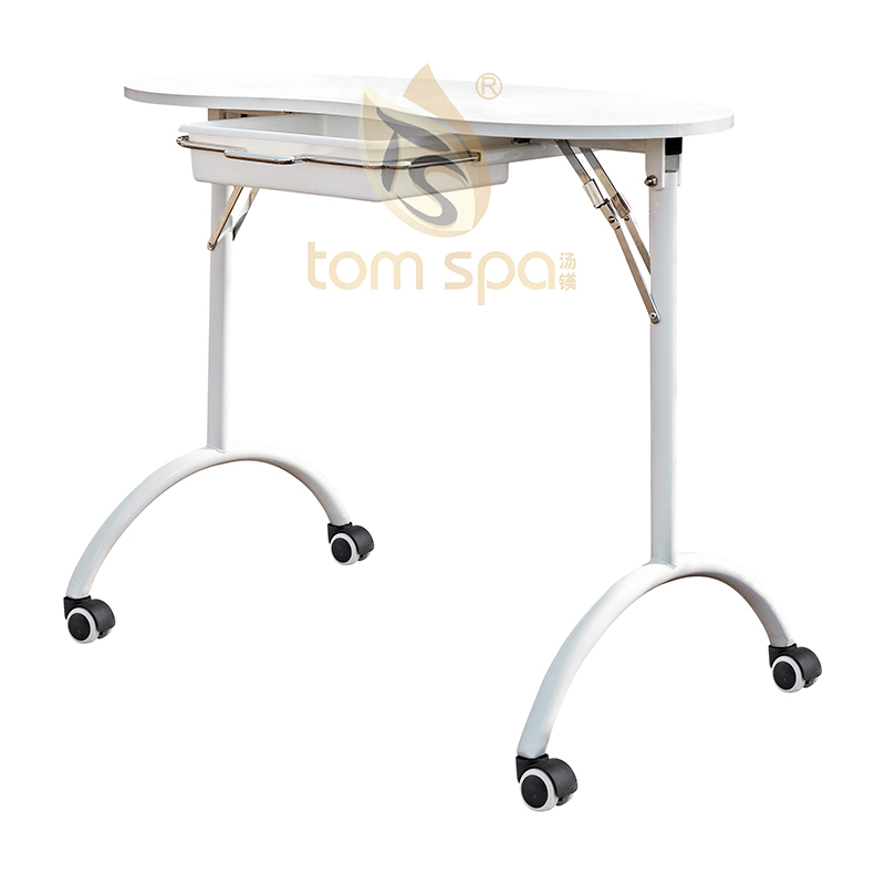 Beauty Portable Folding 1-Drawer Manicure Table