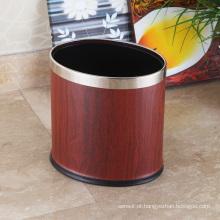 Aço inoxidável de gama alta Oval Open Top 12L Trash Bin (KA-10LB)