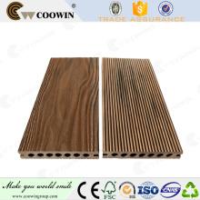 En gros woodgrain vague forme 3d gaufrage wpc decking