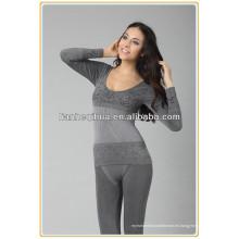 Ropa interior de mujer sin costura largo johns, pijamas de señoras de alta calidad de largo johns
