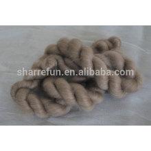 100% чистый монгольский коричневый козий кашемир топы 16.5 микрофон/44-46мм