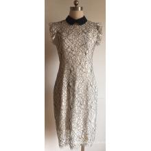 Baumwoll-Nylon-Spitze Damen Pullover mit Rüschenärmeln
