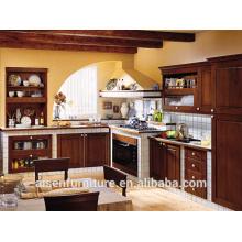 Armario de cocina de madera de abedul color marrón claro de alta calidad