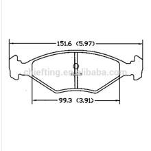 D350 305698151-5 for VW Fiat Palio brake pad hi-q
