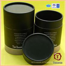 Caja de regalo del chocolate del cilindro de papel de la alta calidad