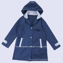 Allover DOT Printing Outdoor Windproof Adult Raincoat