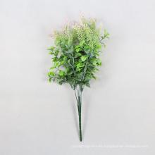 Follaje de plantas artificiales decorativas verdes ornamentales para cobertura con SGS