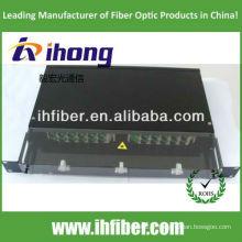 Panneau de raccordement en fibre coulissante en treillis de 19 pouces / ODF avec couvercle transparent, fabricant