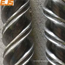 Bimetallic twin screws for pvc pta pe extrusion to make tube settler