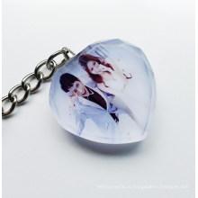 Свадьбы пользу Кристалл фото Брелок Свадебные подарки 2015.3 D лазерный кристалл брелок
