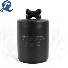 Wholesale custom printed English relief ceramic food jars