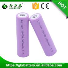 Rechargeable 3000mah battery 3.7v li-ion 18650 battery