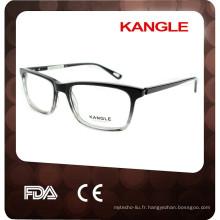 2017 HOT SELLER à la main hommes acétate optique glasse et lunettes