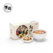 Dried vegetables egg concentrated mushroom soup