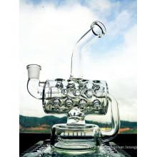 Оптовый новый дизайн 8 дюймов высота Мини Портативный Recycler стеклянная вода трубы