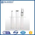 Fabriquant insert de flacon de fond net en verre isolant 150ul pour flacons de 8-425 hplc