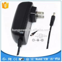 Doe 6 nivel vi Clase 2 UL enumerado CE GS SAA FCC 14v 1500ma adaptador de CA 1.5A fuente de alimentación de la CC
