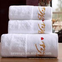 Juego de toallas de hotel absorbente de agua 100% algodón