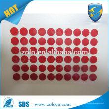 Etiquetas personalizadas de adhesivo de color de garantía de cambio de color, adhesivo autoadhesivo adhesivo fuerte sensible al agua