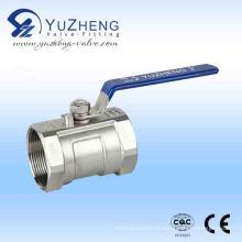 Válvula de esfera de rosca flutuante Ss 1PC