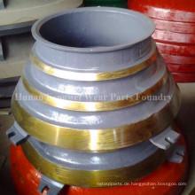 Schüssel Liner und Mantle-High Mangan Kegelbrecher Ersatzteile
