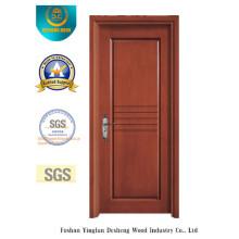 Porta moderna do MDF do estilo da prova da água para o interior com madeira maciça (xcl-014)