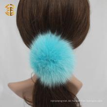 Nettes buntes reales Fox-Pelz-Kugel-elastisches Haar-Zusatz-Stirnband