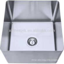 304 Stainless Steel fabricated handmade straight or inclined bowl for Compartment sink