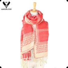 2016 neue Oversize Soft Warm Woven Jacquard Muster Schal oder Schal