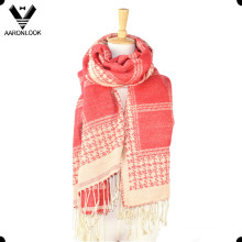 2016 Nueva Oversize Soft Warm Tejido Jacquard patrón bufanda o mantón