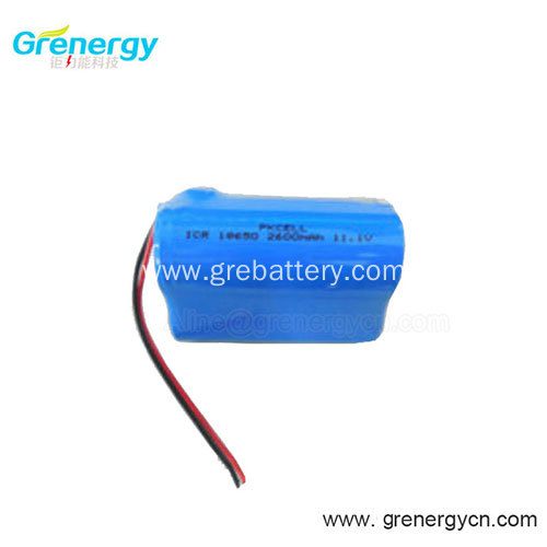 12 Volt Rechargeable 3 Cell Lithium Ion Battery Pack