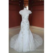 Mermaid Satin Beading Mermaid Wedding Dress