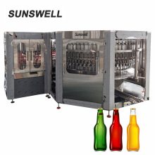 automatic beer filling head in bottle can packing