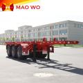 Popular 12m 3 Axles Skeletal Container Trailer