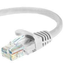 Cat5e UTP RJ45 cabo de cabo de patch Ethernet 50 pés branco