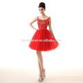2017 Новый Дизайн Дешевой Цене Красный Кружево Шифон Вечерние Таобао Вечернее Платье Для Партии