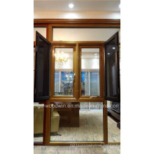 Woodwin Hot Seller Wood and Aluminum Composite Window with Double Glass