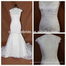 Ver a través de encaje sin espalda Sweetheart Mermaid Lace Wedding Dresses