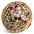 Vente en gros de cuivre avec perles en zircon cubique Accessoires bijoux fantaisie 18 * 18mm