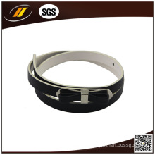 New Design Fashion Thin PU Belt with Bowknot Buckle