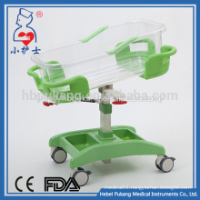 height adjustable transparent new born hospital bed