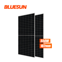 Blueusn Newest 182mm solar cells better performance 530w 540w 550w mbb solar panel prices of solar panels