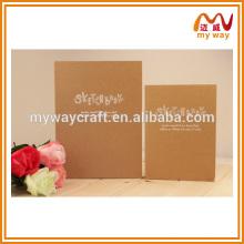 Bloco de papelão de alta qualidade kraft hardcover, atacadista de notebooks de tamanho diferente