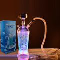 2021 Aierbaita atacado barato personalizado Arcylc plástico cachimbo de água portátil cachimbo de água copo Shisha Viagem LED Light Car Shisha