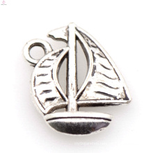 New arrival silver alloy ship charm,silver alloy boat charm jewelry