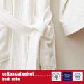 Robe de bain en velours 100% coton taillé