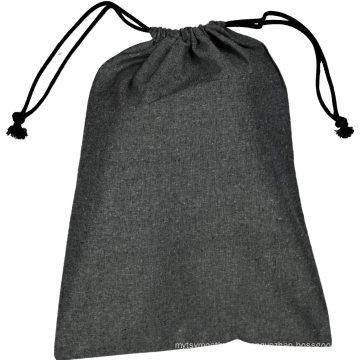 Wholesale custom canvas cotton natural linen drawstring pouch bag